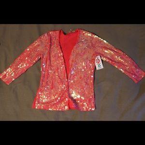 Vintage Pink Sparkly cardigan